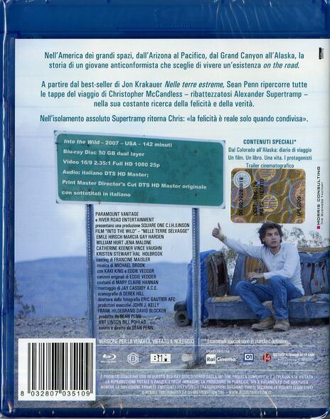 Into the Wild. Nelle terre selvagge di Sean Penn - Blu-ray - 2