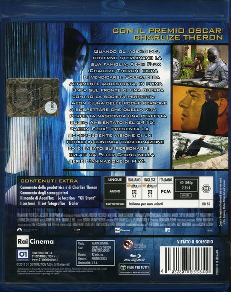 Aeon Flux di Karin Kusama - Blu-ray - 2