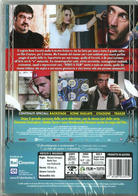 Boris. Il film di Giacomo Ciarrapico,Mattia Torre,Luca Vendruscolo - DVD - 2