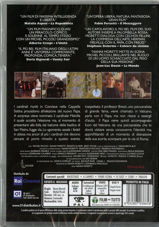 Habemus Papam di Nanni Moretti - DVD - 2