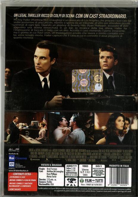 The Lincoln Lawyer di Brad Furman - DVD - 2