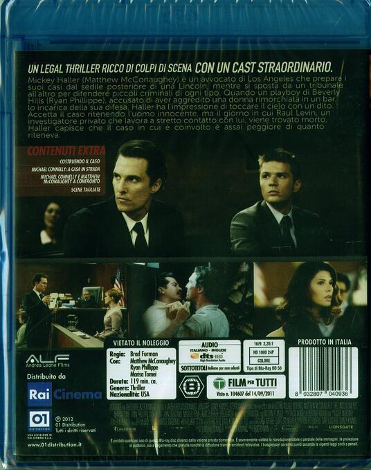 The Lincoln Lawyer di Brad Furman - Blu-ray - 2