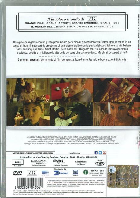 Il favoloso mondo di Amelie di Jean-Pierre Jeunet - DVD - 2