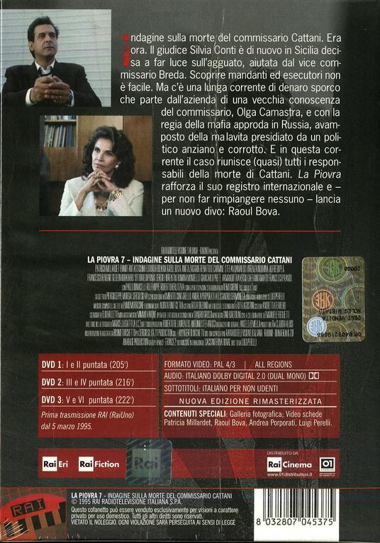 La piovra 7 (3 DVD) di Luigi Perelli - DVD - 2