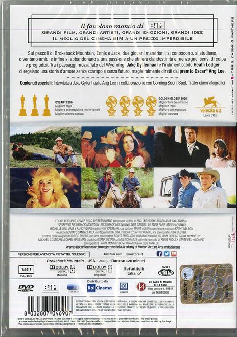 I segreti di Brokeback Mountain di Ang Lee - DVD - 2