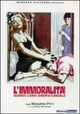 Cover Dvd DVD L'immoralità
