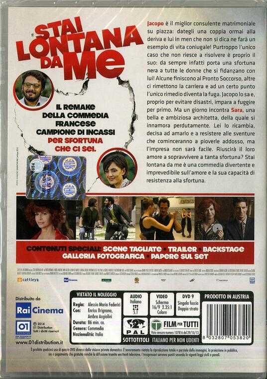 Stai lontana da me di Alessio Maria Federici - DVD - 2