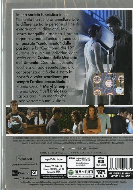 The Giver. Il mondo di Jonas di Phillip Noyce - DVD - 2