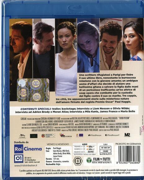 Third Person di Paul Haggis - Blu-ray - 2