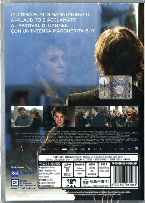 Mia madre di Nanni Moretti - DVD - 2