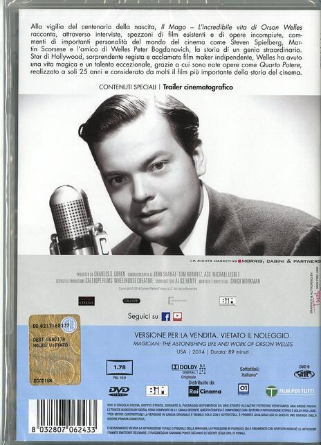 Il mago. L'incredibile vita di Orson Welles di Chuck Workman - DVD - 2