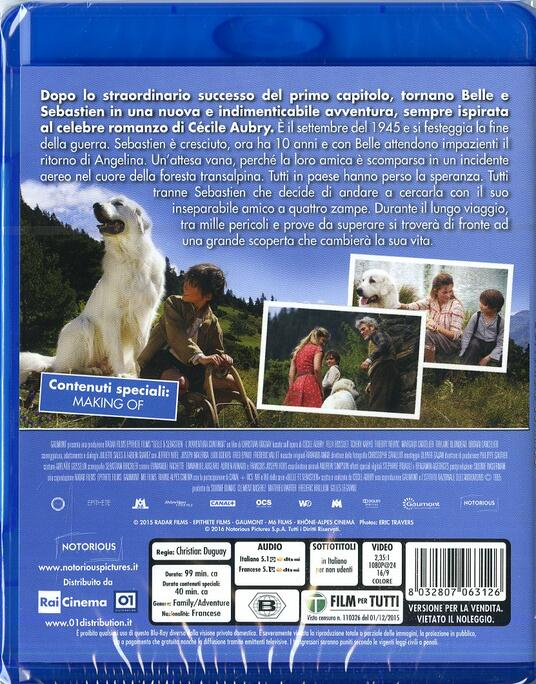 Belle & Sebastien. L'avventura continua di Christian Duguay - Blu-ray - 2