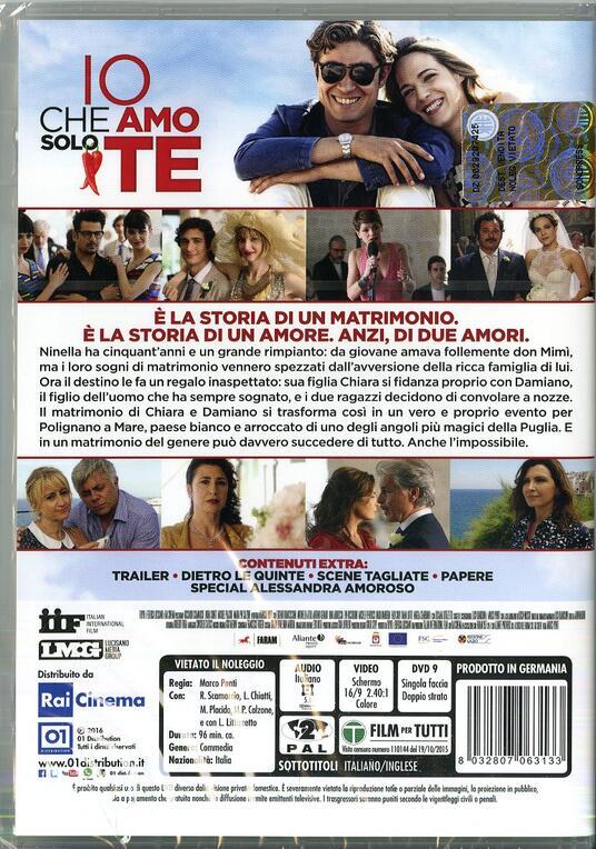 Io che amo solo te di Marco Ponti - DVD - 2