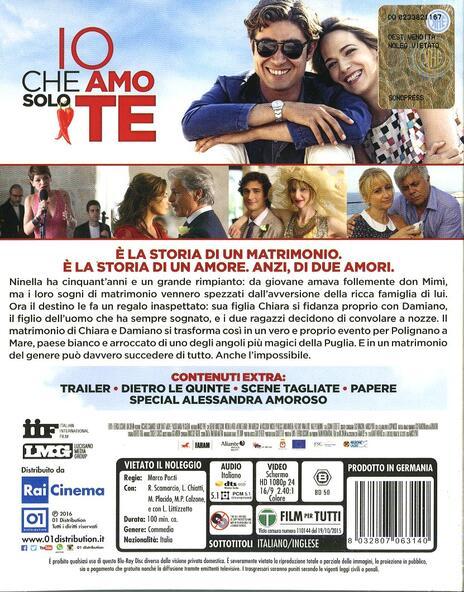 Io che amo solo te di Marco Ponti - Blu-ray - 2