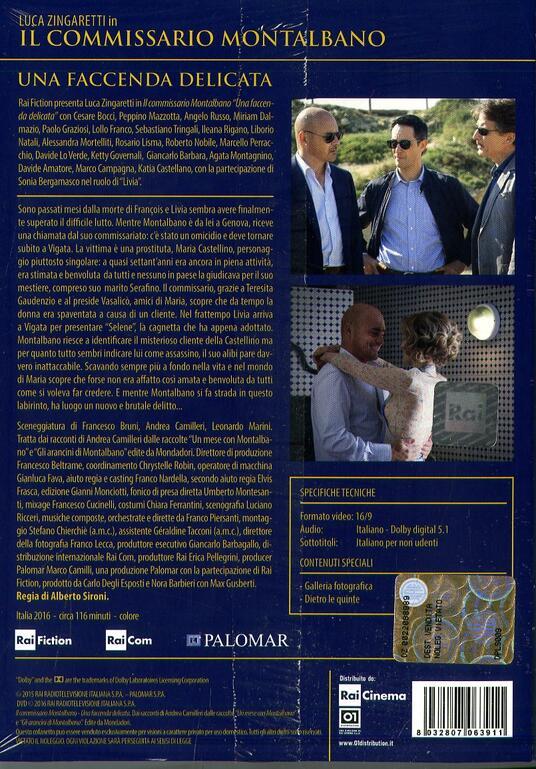 Il commissario Montalbano. Una faccenda delicata di Alberto Sironi - DVD - 2