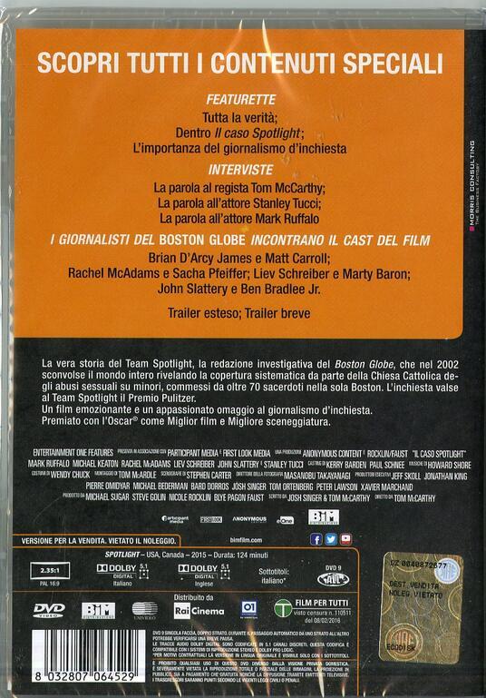 Il caso Spotlight di Thomas McCarthy - DVD - 2