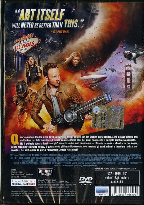 Sharknado 4 di Anthony C. Ferrante - DVD - 2