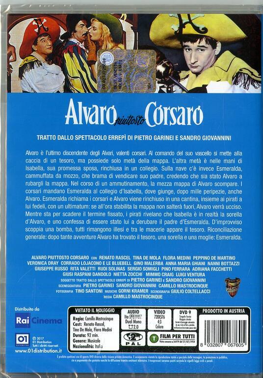 Alvaro piuttosto corsaro (DVD) di Camillo Mastrocinque - DVD - 2
