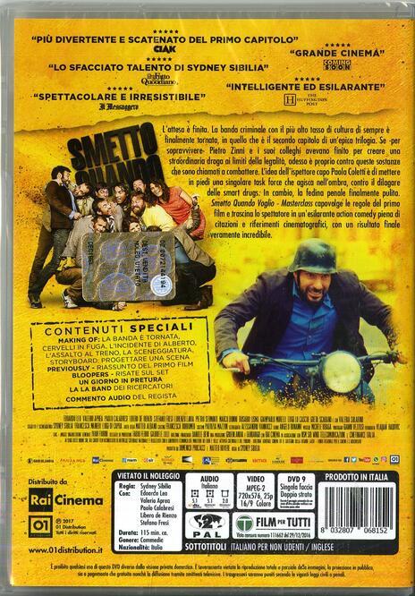 Smetto quando voglio. Masterclass (DVD) di Sydney Sibilia - DVD  - 9