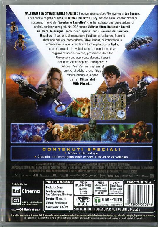 Valerian e la città dei mille pianeti (DVD) di Luc Besson - DVD - 10