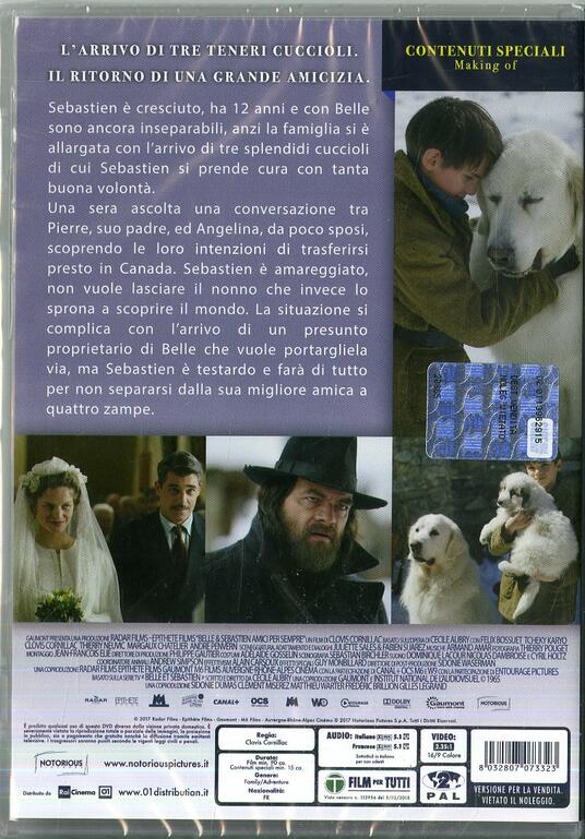 Belle & Sebastien Amici per sempre (DVD) di Clovis Cornillac - DVD - 2