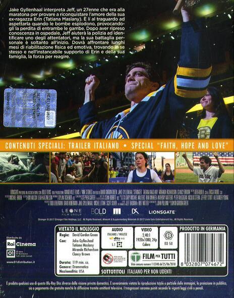 Stronger. Io sono più forte (Blu-ray) di David Gordon Green - Blu-ray - 2