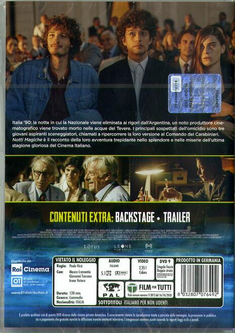Notti magiche (DVD) di Paolo Virzì - DVD  - 2