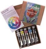 Colori acrilici fini Polycolor Maimeri Primary Set. Confezione 5 colori assortiti