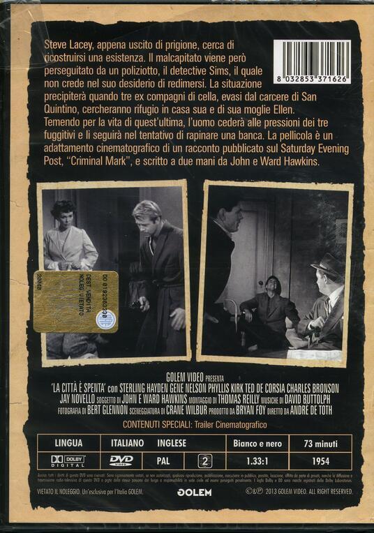 La città spenta di André De Toth - DVD - 2