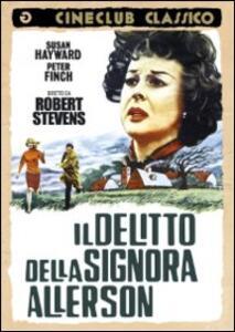 Il delitto della signora Allerson di Robert Stevens - DVD