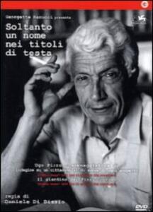 Soltanto un nome nei titoli di testa di Daniele Di Biasio - DVD