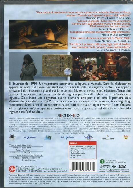 Dieci inverni di Valerio Mieli - DVD - 2