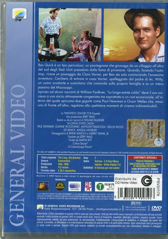 La lunga estate calda di Martin Ritt - DVD - 2