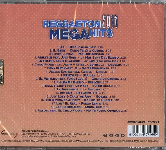 Reggaeton 2016 Mega Hits - CD Audio + DVD - 2