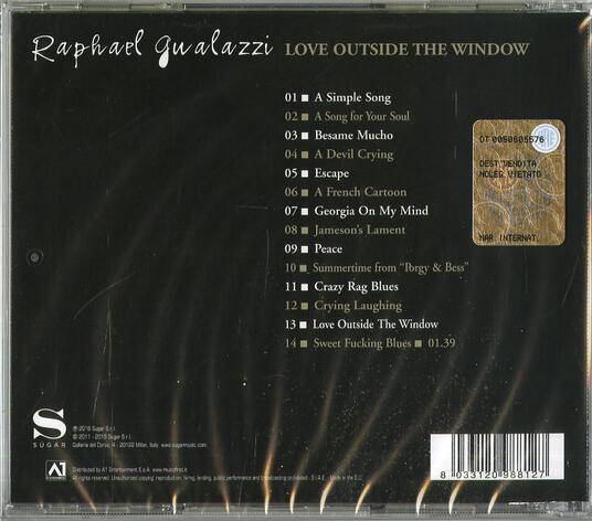 Love Outside the Window - CD Audio di Raphael Gualazzi - 2