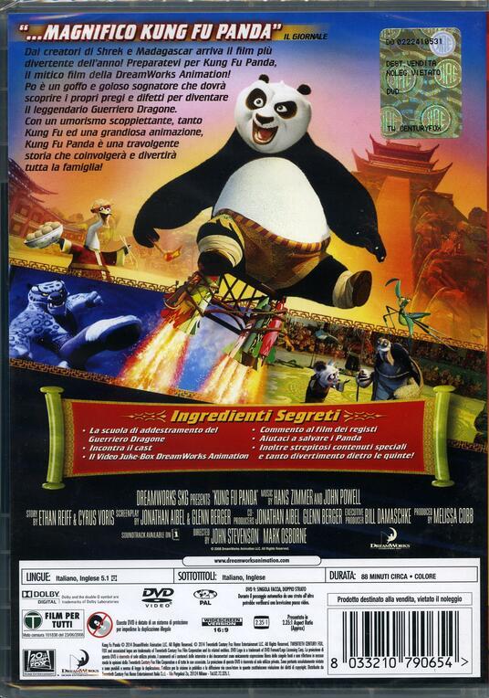 Kung Fu Panda (1 DVD) di John Stevenson,Mark Osborne - DVD - 2