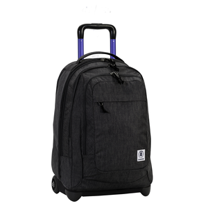 Cartoleria Zaino Trolley Extra Bump Plain Invicta. Jet Black Invicta