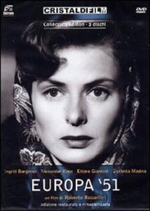 Europa '51 (2 DVD)<span>.</span> Collector's Edition di Roberto Rossellini - DVD
