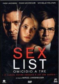 Cover Dvd Sex List. Omicidio a tre