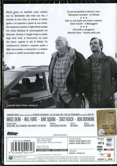 Nebraska di Alexander Payne - DVD - 2