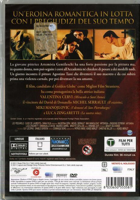 Artemisia di Agnès Merlet - DVD - 2