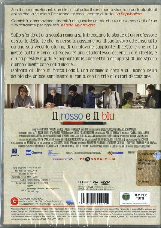 Il rosso e il blu di Giuseppe Piccioni - DVD - 2