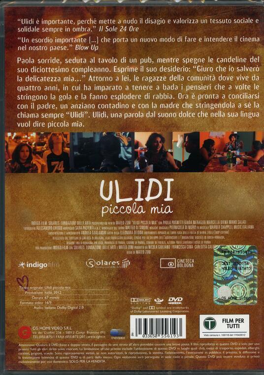 Ulidi piccola mia di Mateo Zoni - DVD - 2
