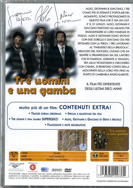 Tre Uomini E Una Gamba Dvd Film Di Aldo Baglio