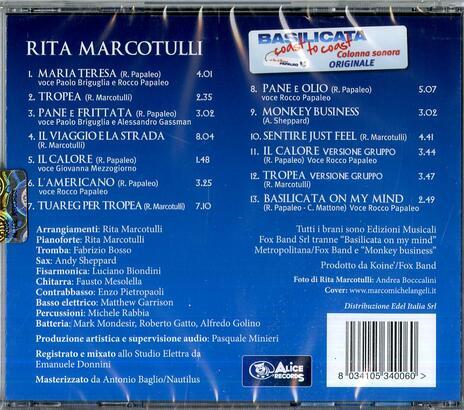Basilicata Coast to Coast (Colonna sonora) - CD Audio di Rita Marcotulli - 2