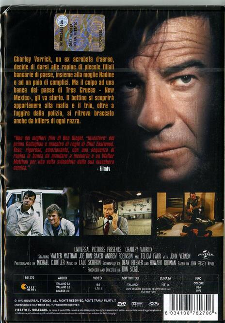 Chi ucciderà Charley Warrick? di Don Siegel - DVD - 2