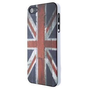 Custodia Wooden UK Flag iPhone 5