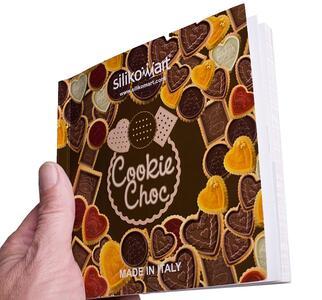 Stampo in Silicone Cookie Hearts Marrone + Manopola in Gift Box + Libro Ricettario - 15