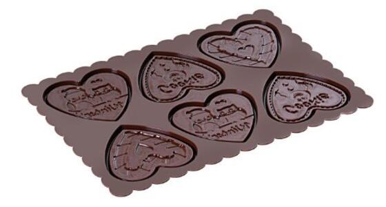 Stampo in Silicone Cookie Hearts Marrone + Manopola in Gift Box + Libro Ricettario - 8