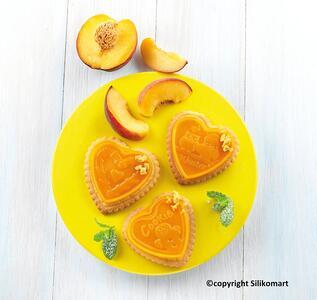Stampo in Silicone Cookie Hearts Marrone + Manopola in Gift Box + Libro Ricettario - 13